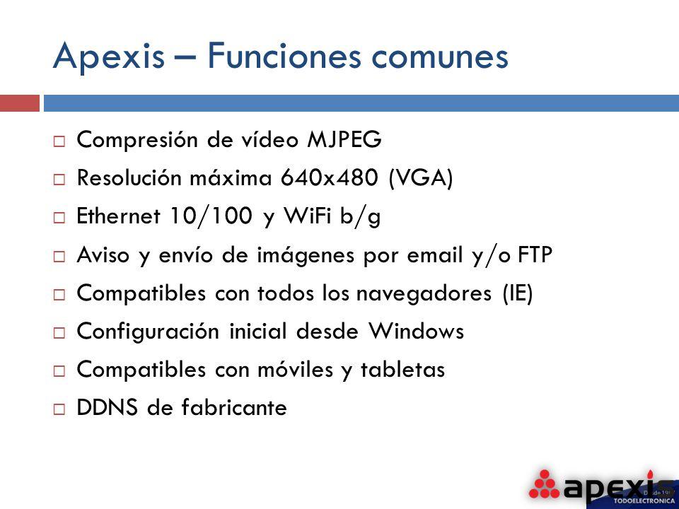 Apexis – Funciones comunes