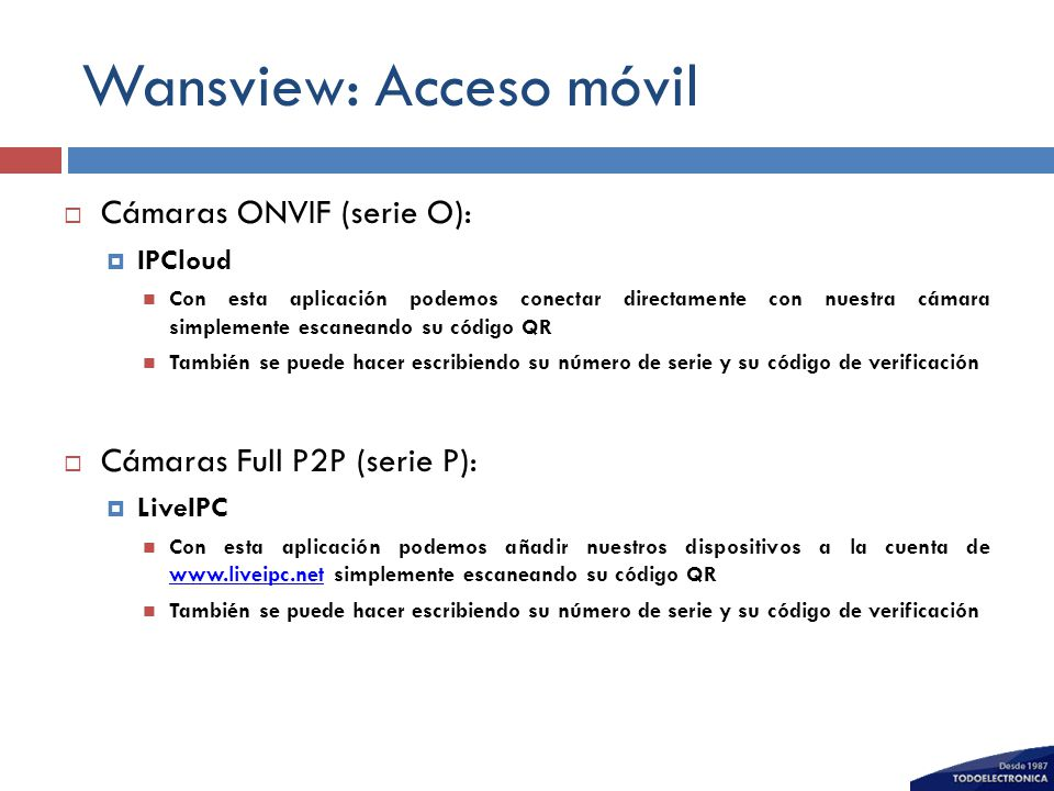 Wansview: Acceso móvil