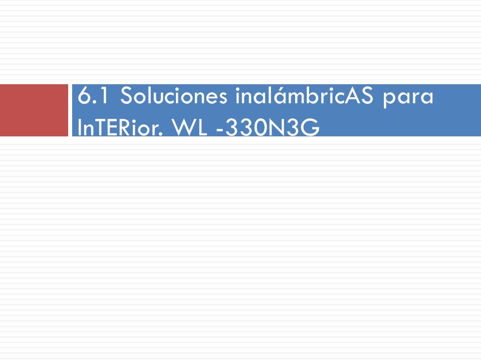 6.1 Soluciones inalámbricAS para InTERior. WL -330N3G