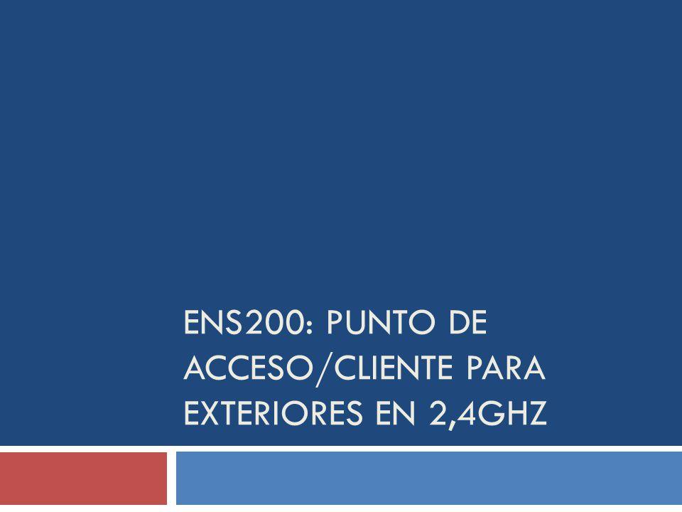ENS200: Punto de acceso/Cliente para exteriores en 2,4GHz