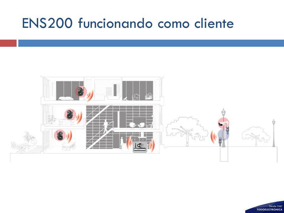 ENS200 funcionando como cliente