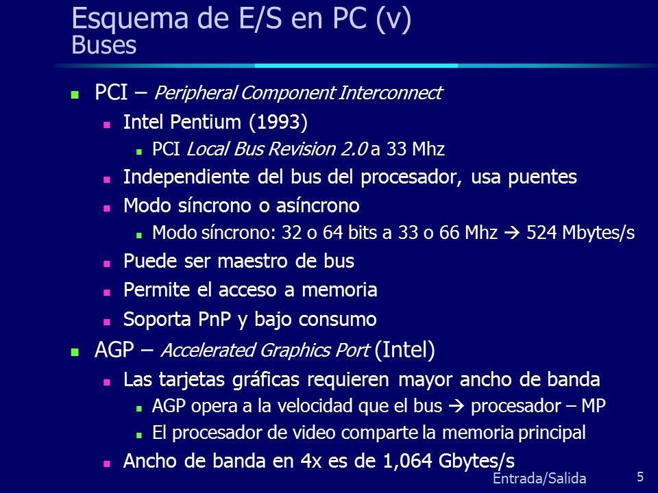 Esquema de E/S en PC (v) Buses