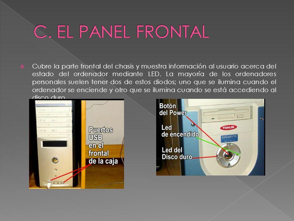 C. EL PANEL FRONTAL