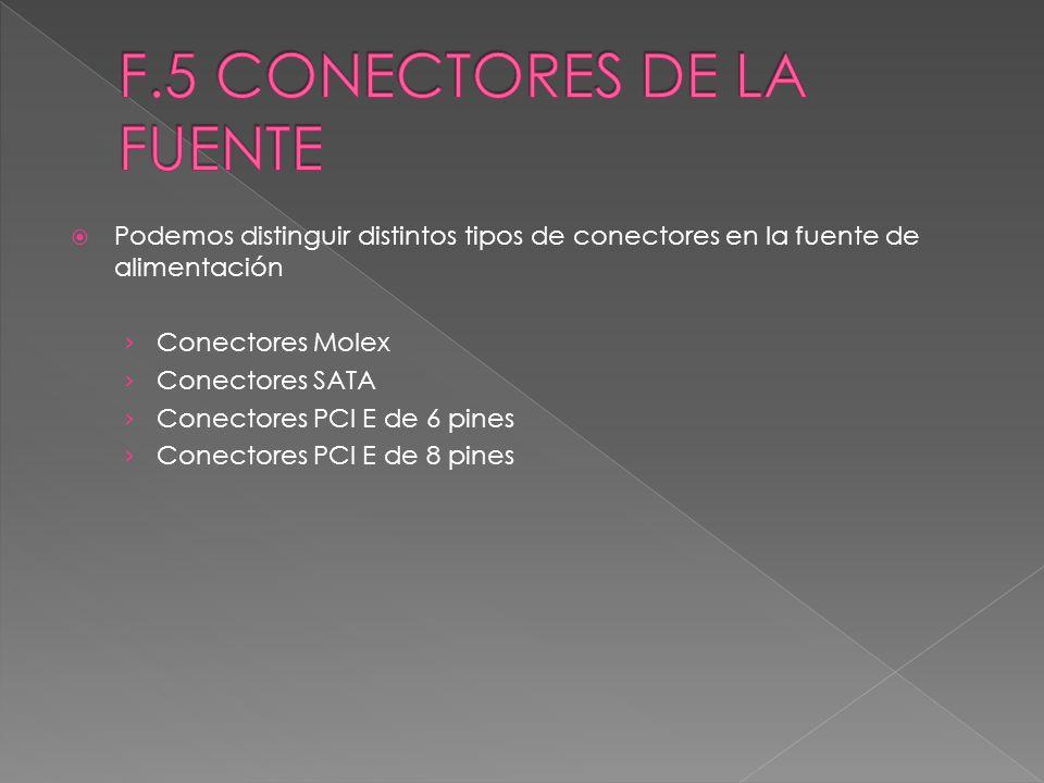 F.5 CONECTORES DE LA FUENTE