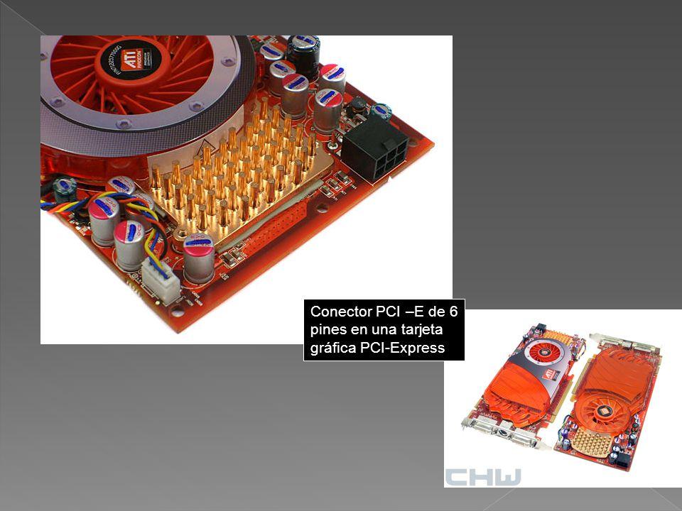 Conector PCI –E de 6 pines en una tarjeta gráfica PCI-Express