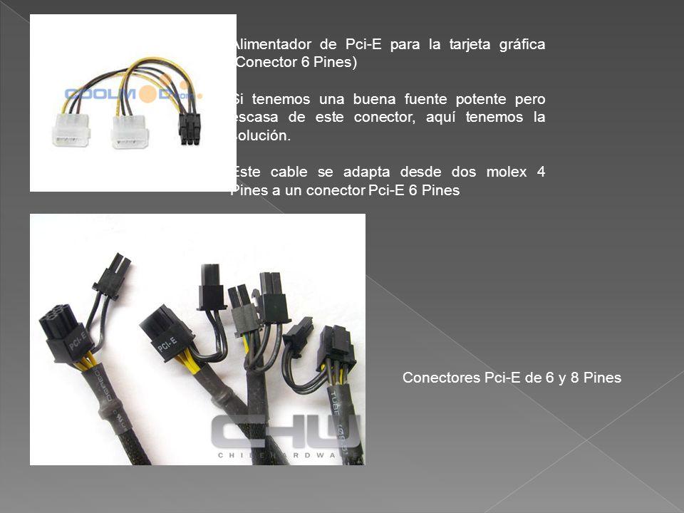 Alimentador de Pci-E para la tarjeta gráfica (Conector 6 Pines)