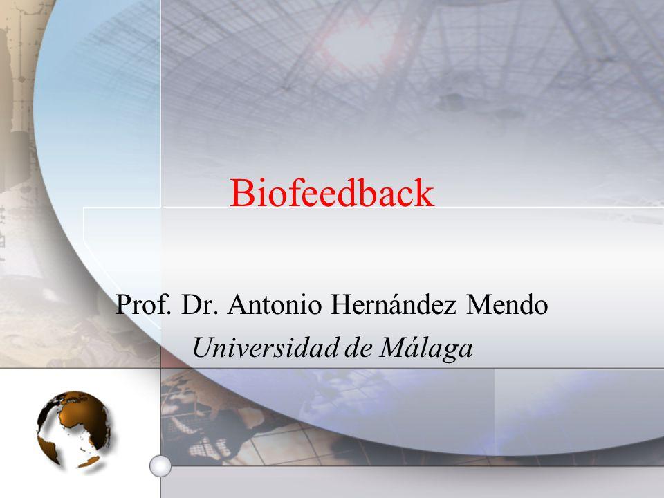 Prof. Dr. Antonio Hernández Mendo Universidad de Málaga