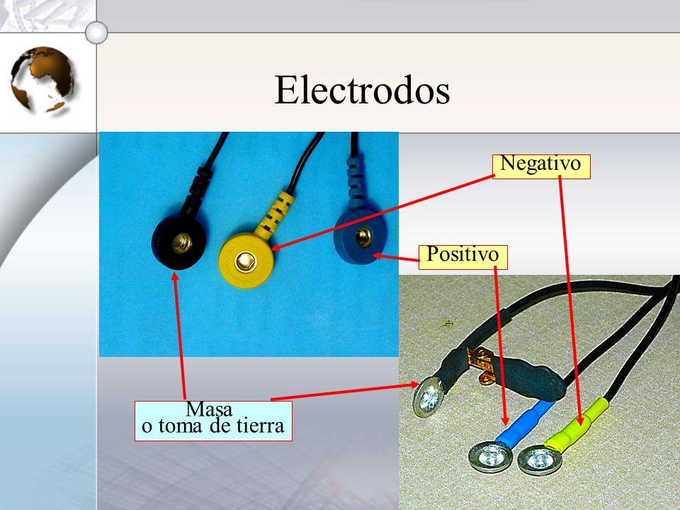 Electrodos Negativo Positivo Masa o toma de tierra