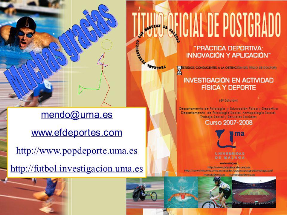 Muchas gracias mendo@uma.es www.efdeportes.com