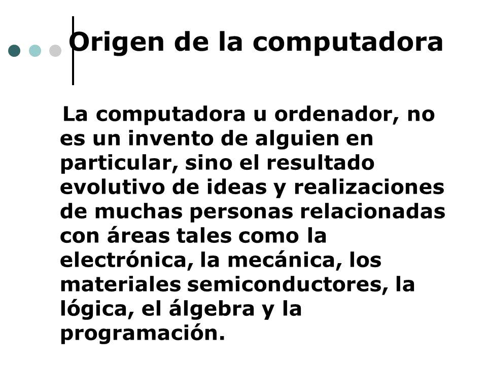 Origen de la computadora