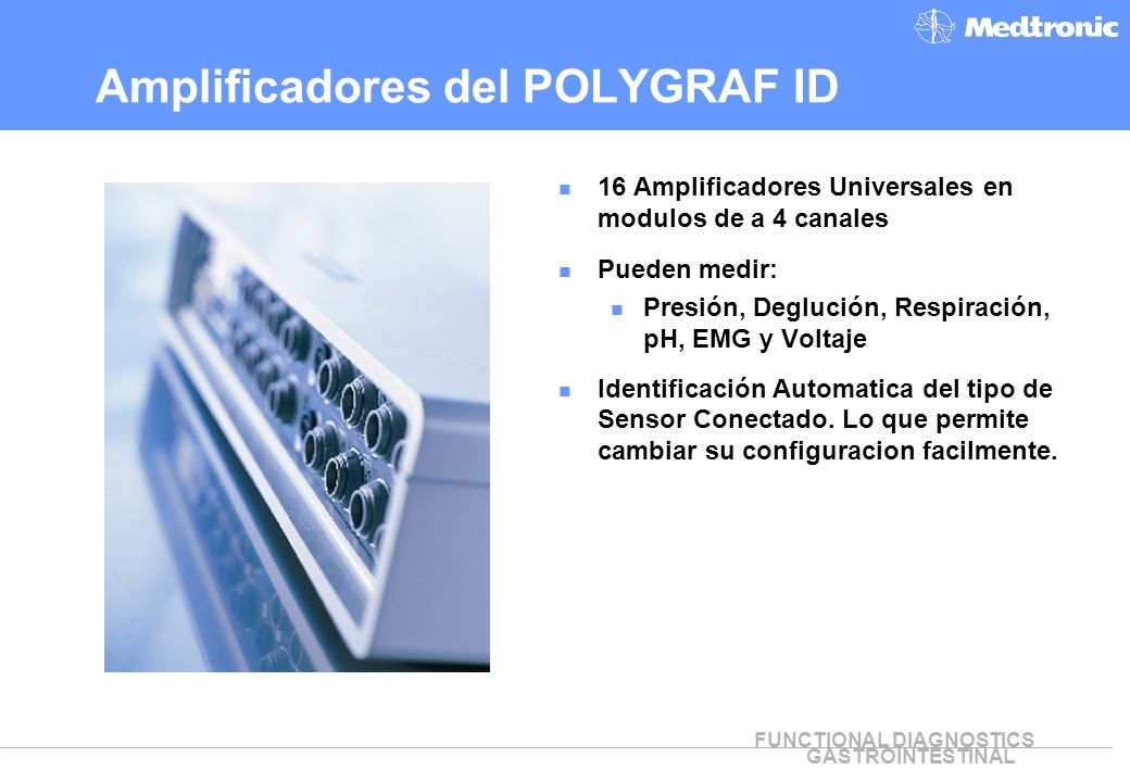 Amplificadores del POLYGRAF ID