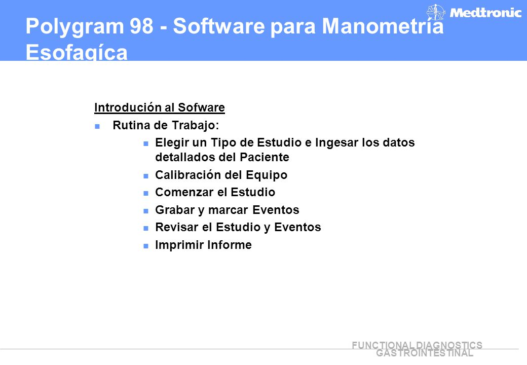 Polygram 98 - Software para Manometría Esofagíca