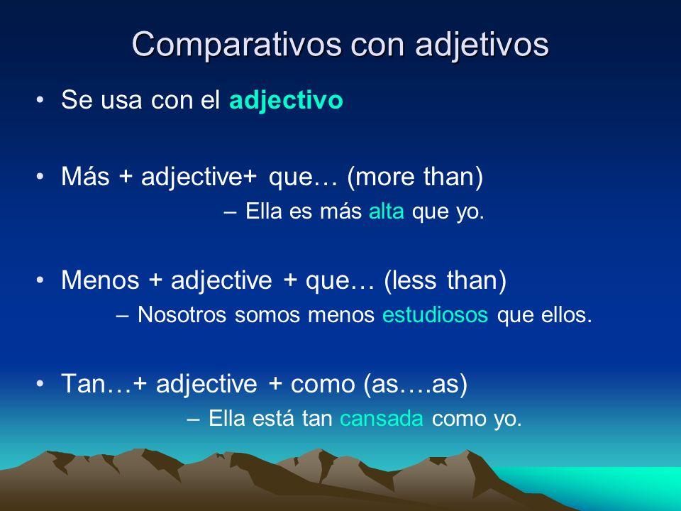 Comparativos con adjetivos