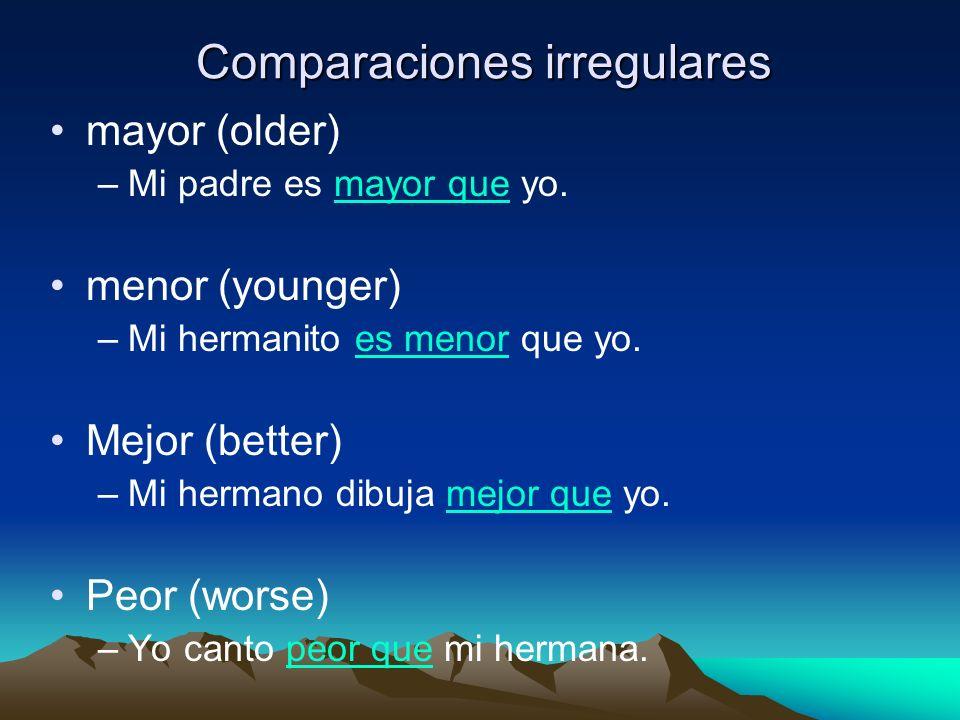 Comparaciones irregulares