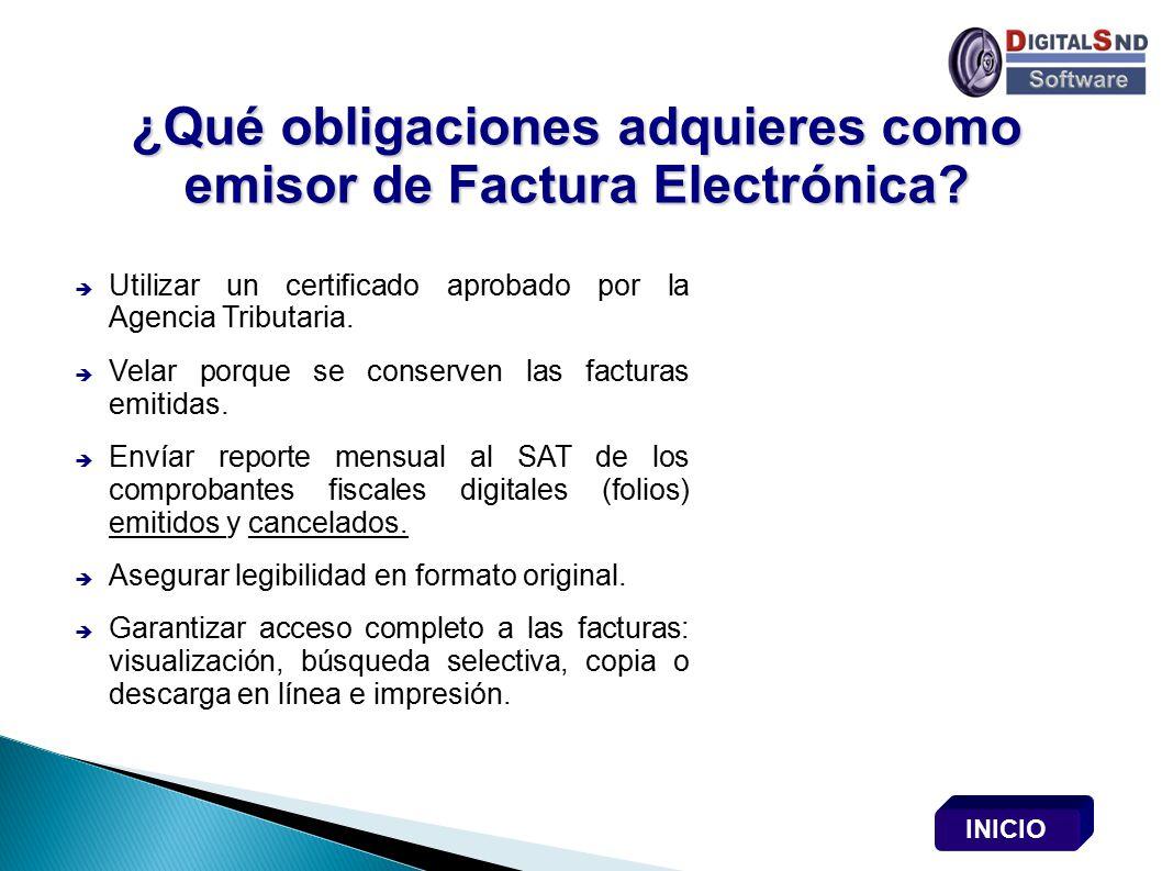 ¿Qué obligaciones adquieres como emisor de Factura Electrónica