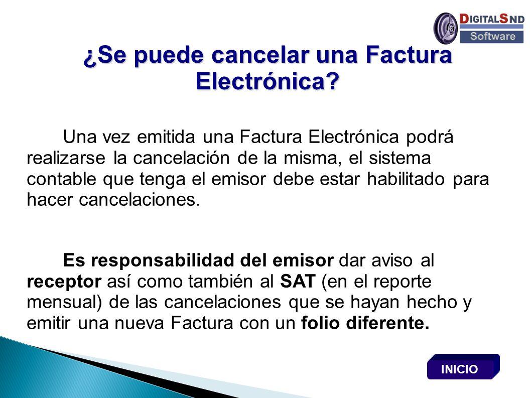 ¿Se puede cancelar una Factura Electrónica