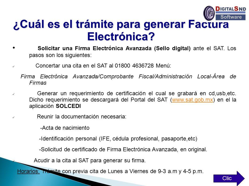 ¿Cuál es el trámite para generar Factura Electrónica