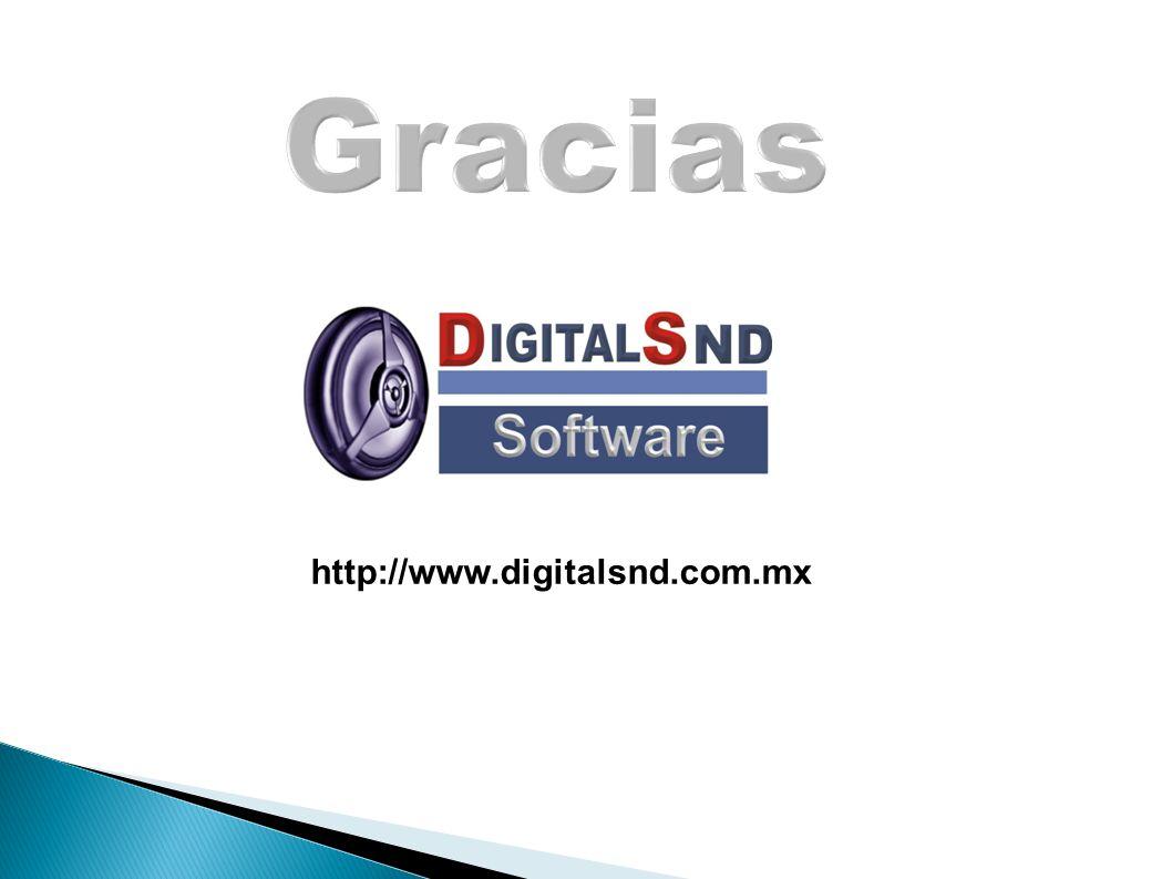 Gracias http://www.digitalsnd.com.mx 25