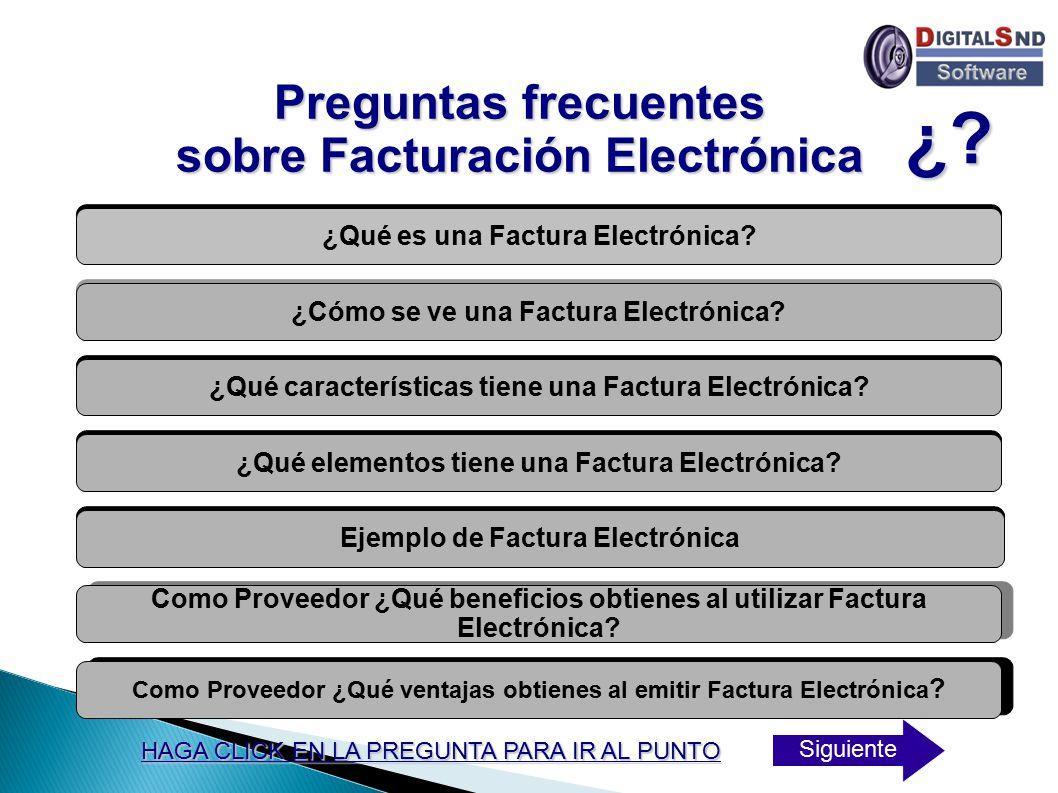 ¿ Preguntas frecuentes sobre Facturación Electrónica