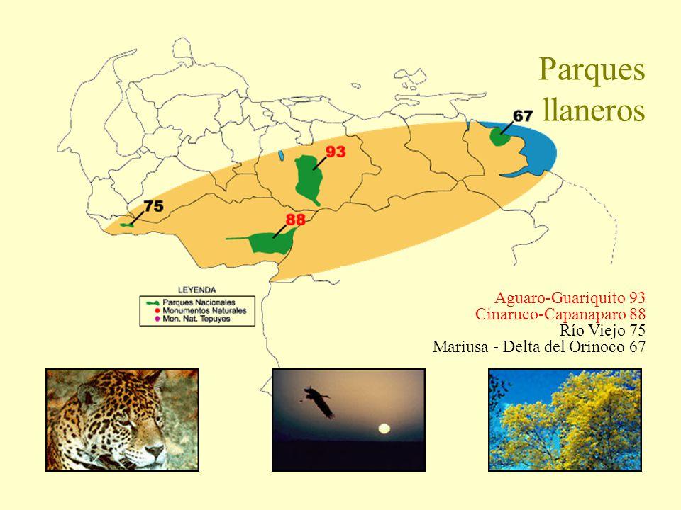 Parques llaneros Aguaro-Guariquito 93 Cinaruco-Capanaparo 88