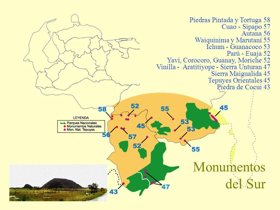 Monumentos del Sur Piedras Pintada y Tortuga 58 Cuao - Sipapo 57