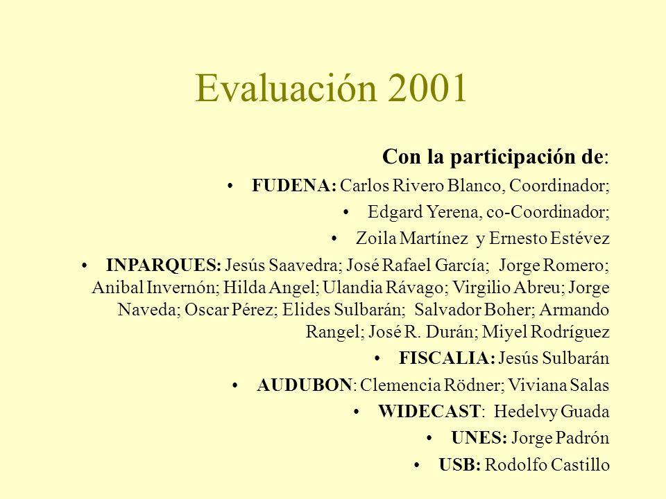 Evaluación 2001 Con la participación de: