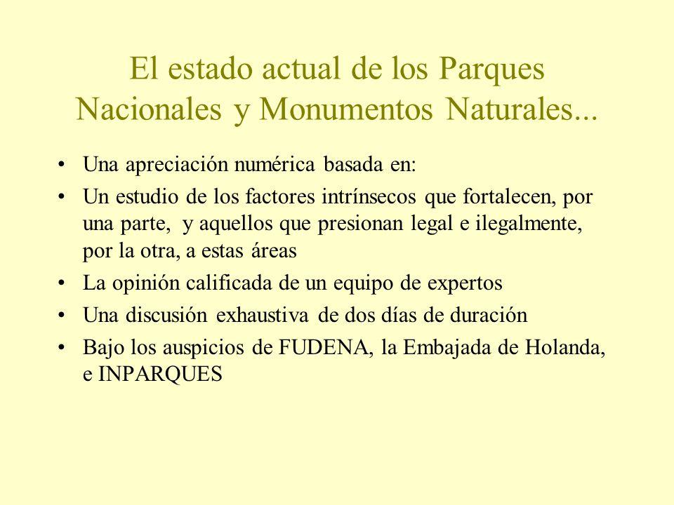 El estado actual de los Parques Nacionales y Monumentos Naturales...