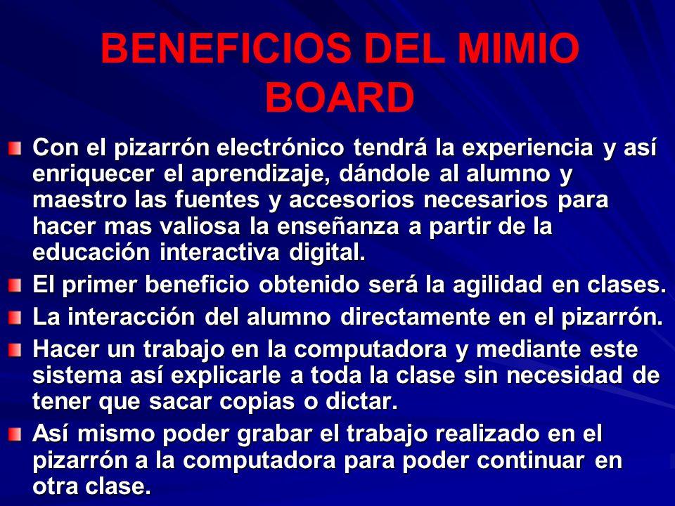 BENEFICIOS DEL MIMIO BOARD