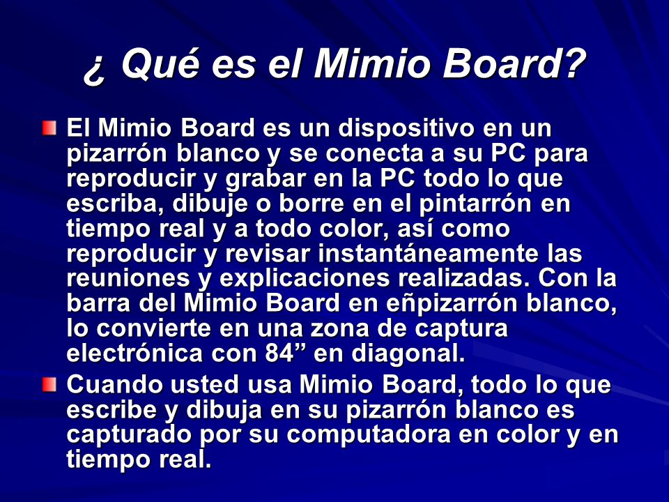¿ Qué es el Mimio Board