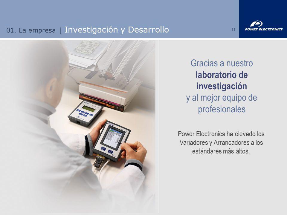 01. La empresa | Investigación y Desarrollo