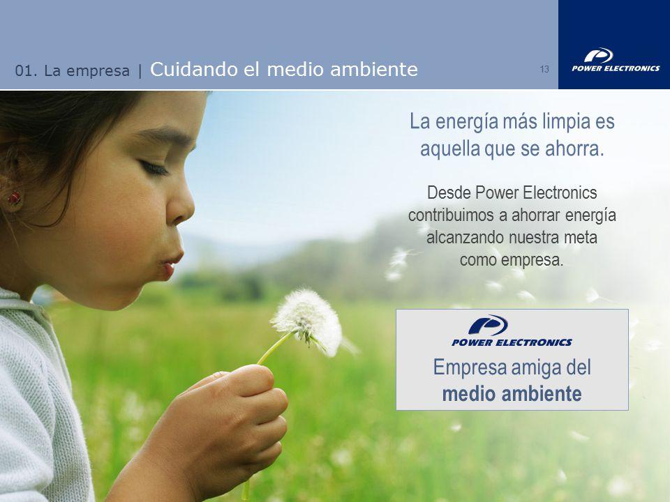 01. La empresa | Cuidando el medio ambiente