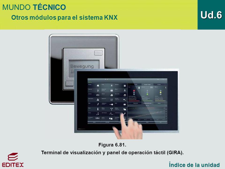 Terminal de visualización y panel de operación táctil (GIRA).