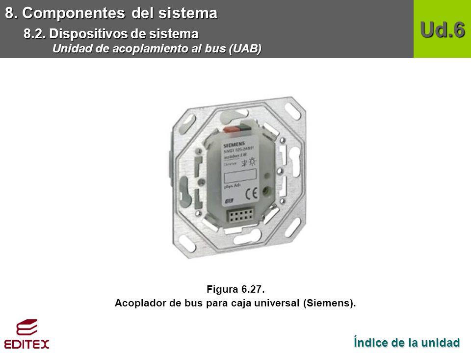 Acoplador de bus para caja universal (Siemens).