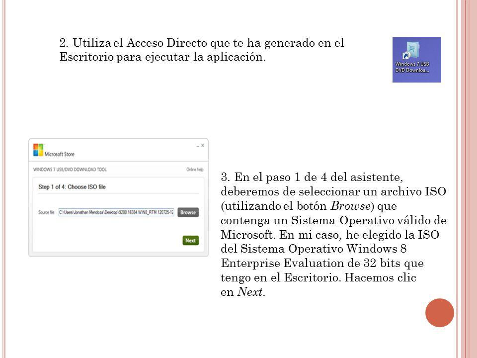 2. Utiliza el Acceso Directo que te ha generado en el Escritorio para ejecutar la aplicación.