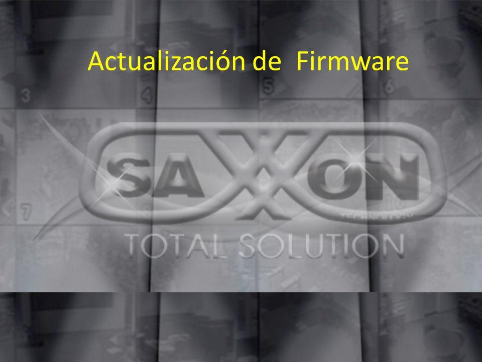 Actualización de Firmware