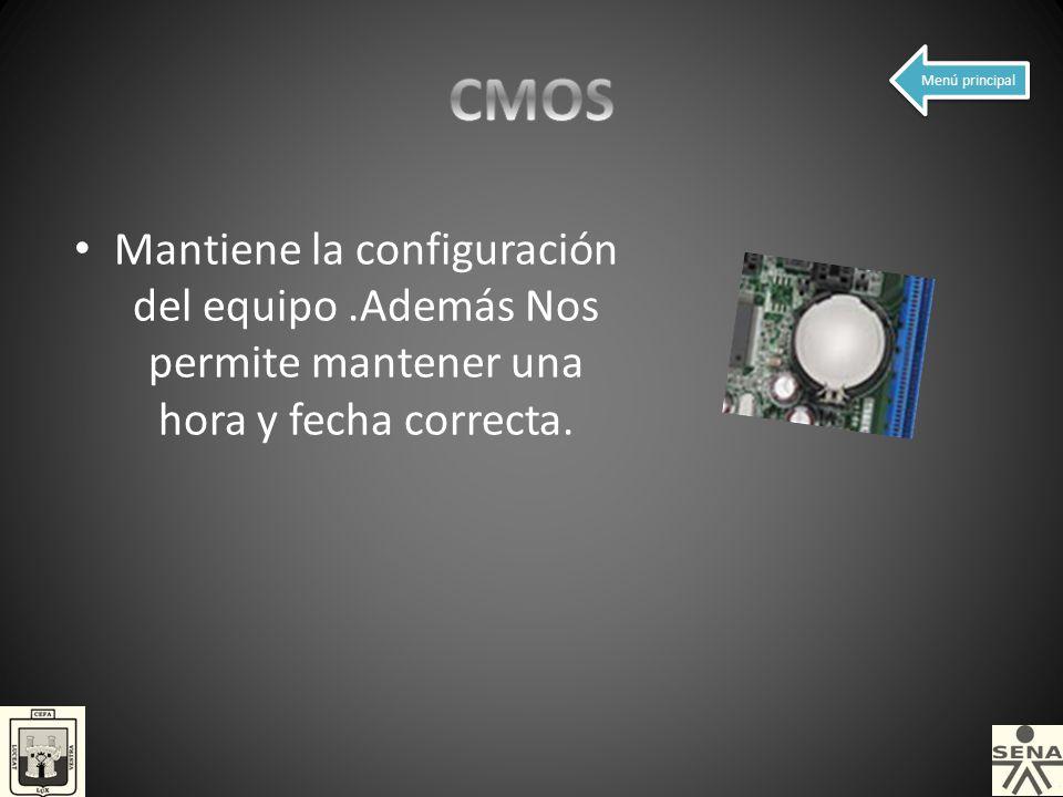 CMOS Menú principal.
