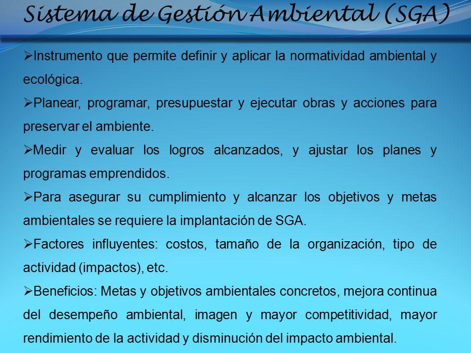 Sistema de Gestión Ambiental (SGA)