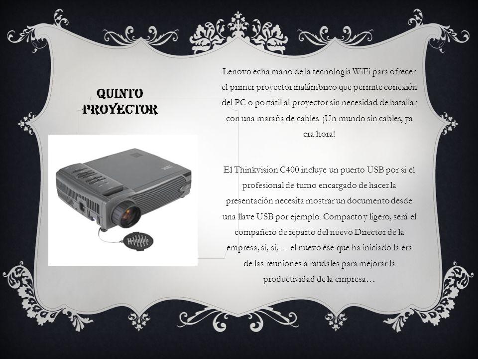 Lenovo echa mano de la tecnología WiFi para ofrecer el primer proyector inalámbrico que permite conexión del PC o portátil al proyector sin necesidad de batallar con una maraña de cables. ¡Un mundo sin cables, ya era hora!
