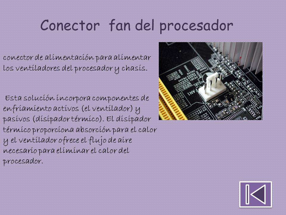 Conector fan del procesador