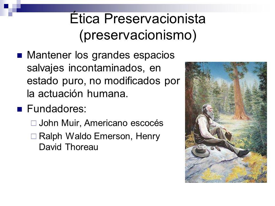 Ética Preservacionista (preservacionismo)