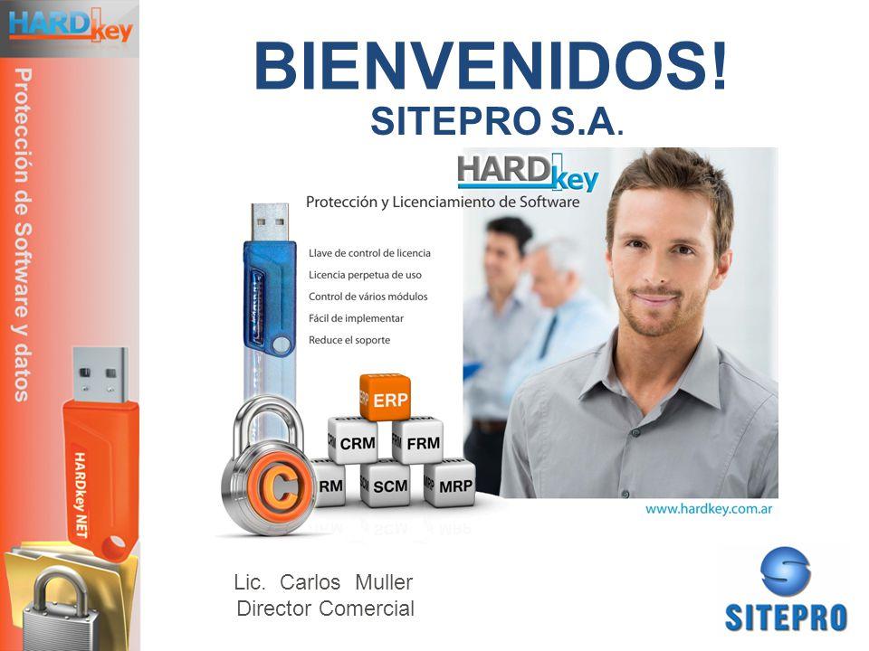 BIENVENIDOS! SITEPRO S.A. Lic. Carlos Muller Director Comercial