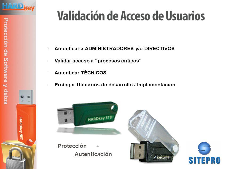 Protección + Autenticación Autenticar a ADMINISTRADORES y/o DIRECTIVOS