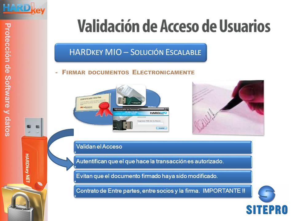 HARDkey MIO – Solución Escalable