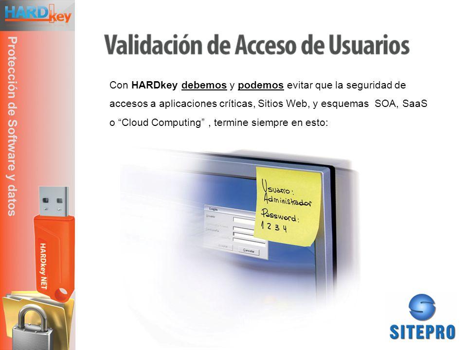 Con HARDkey debemos y podemos evitar que la seguridad de accesos a aplicaciones críticas, Sitios Web, y esquemas SOA, SaaS o Cloud Computing , termine siempre en esto: