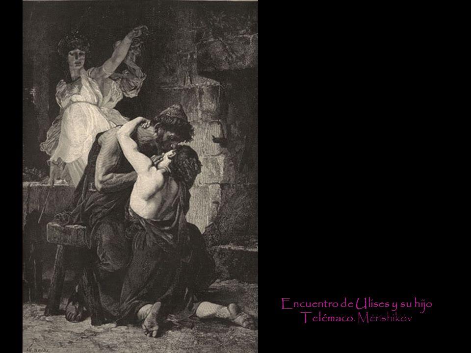 Encuentro de Ulises y su hijo