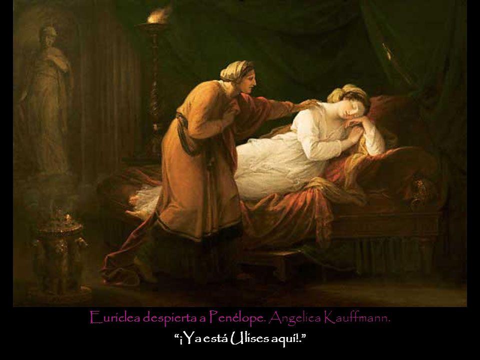 Euriclea despierta a Penélope. Angelica Kauffmann.