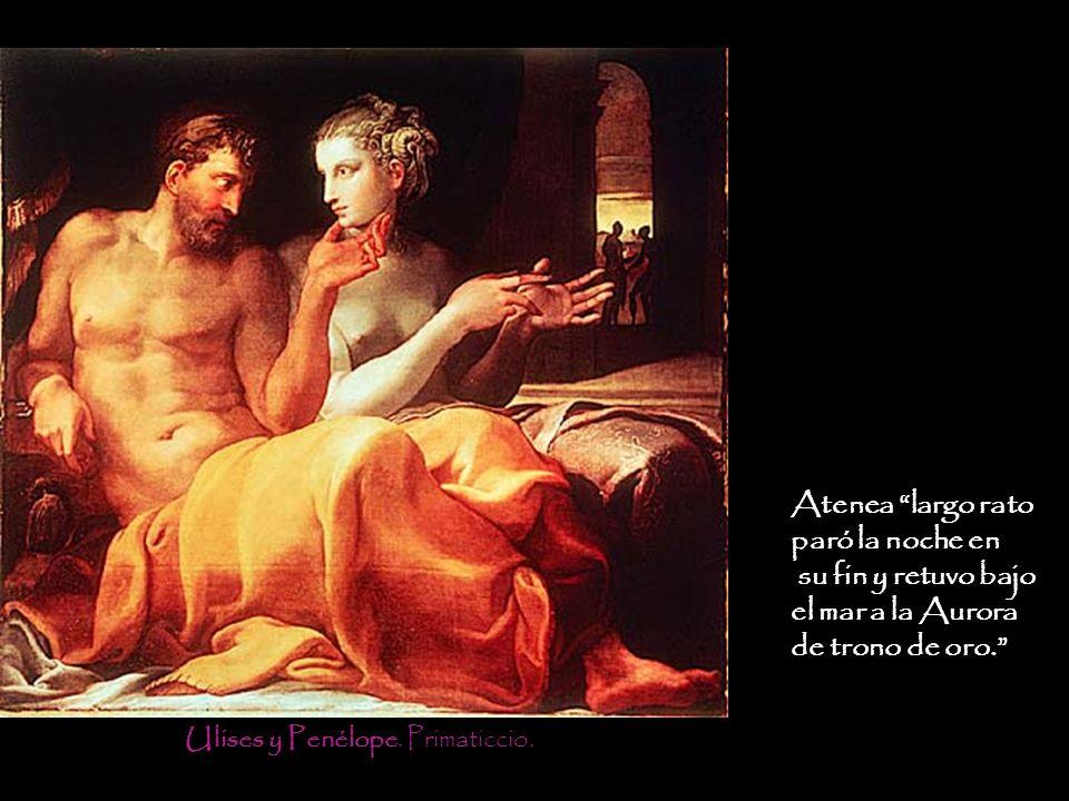 Ulises y Penélope. Primaticcio.