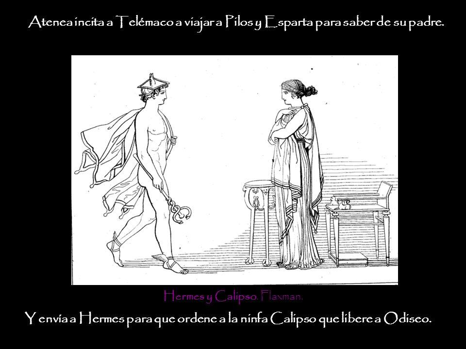 Hermes y Calipso. Flaxman.