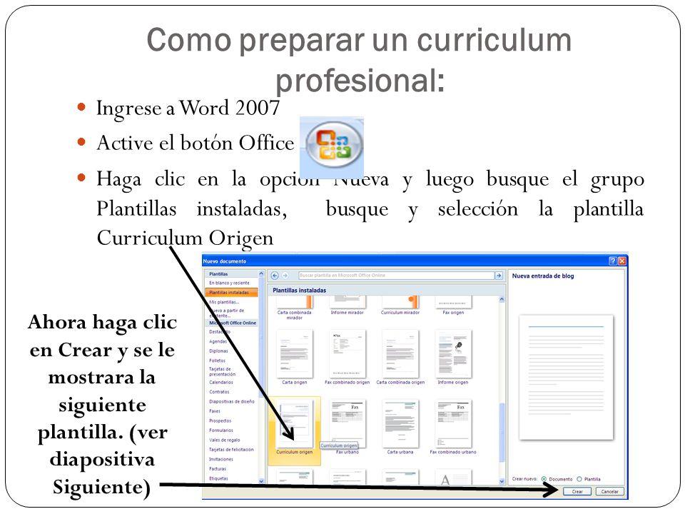 Como preparar un curriculum profesional: