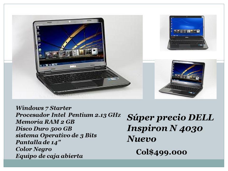 Súper precio DELL Inspiron N 4030 Nuevo